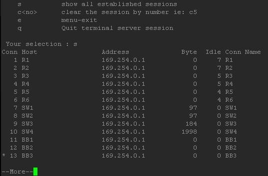Cisco Terminal Server with 'Menu' command – Routing-Bits